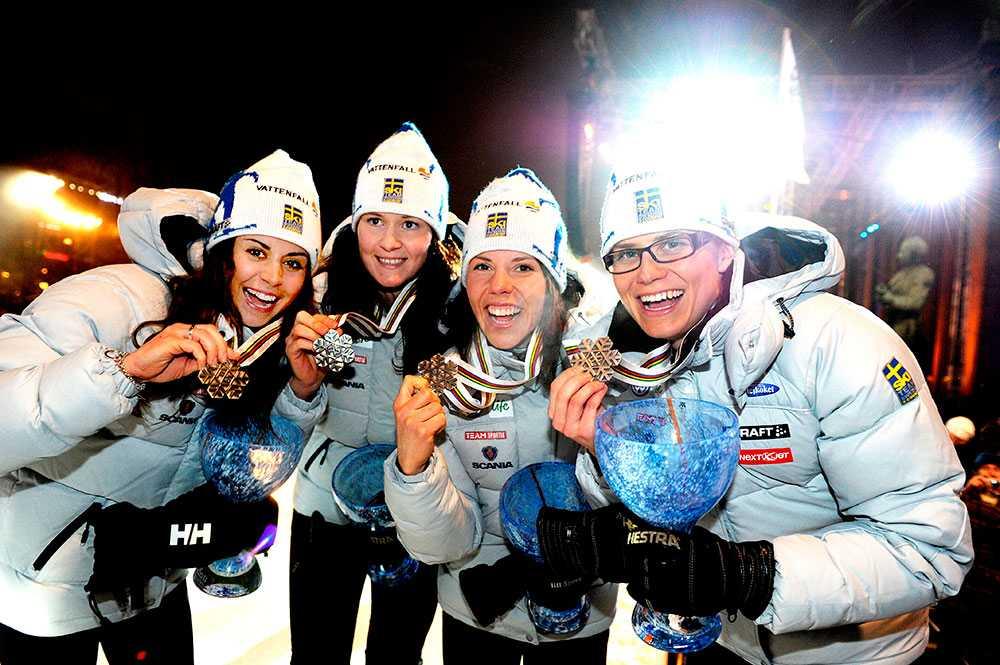 Det blev även ett VM-brons för Kalla och company under VM i Holmenkollen 2011