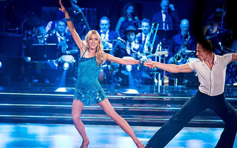 Linda Lindorff och dansaren Kristjan Lootus.