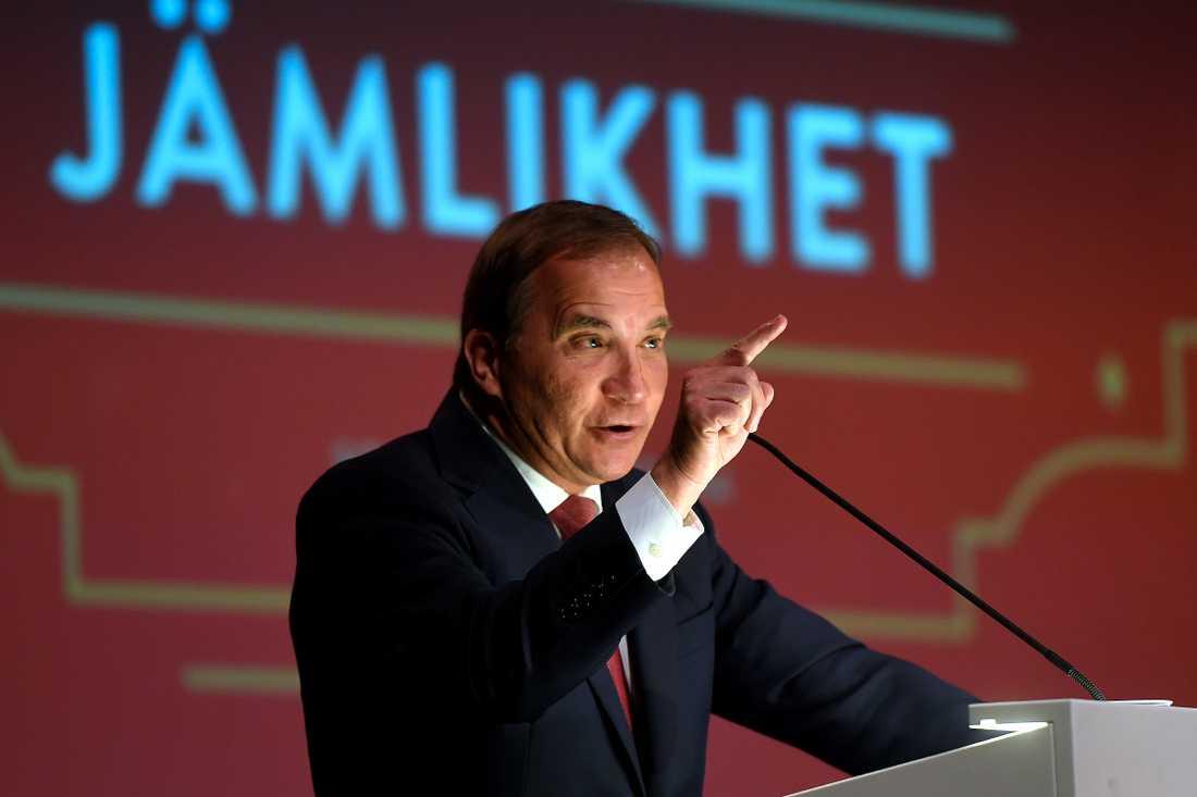 Löfven på SSU:s kongress i Älvsjö, Stockholm.