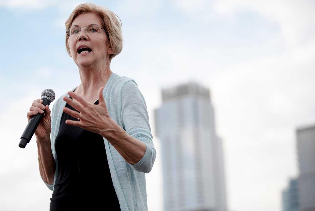 Den demokratiske presidentaspiranten och Massachusettssenatorn Elizabeth Warren i Texas.