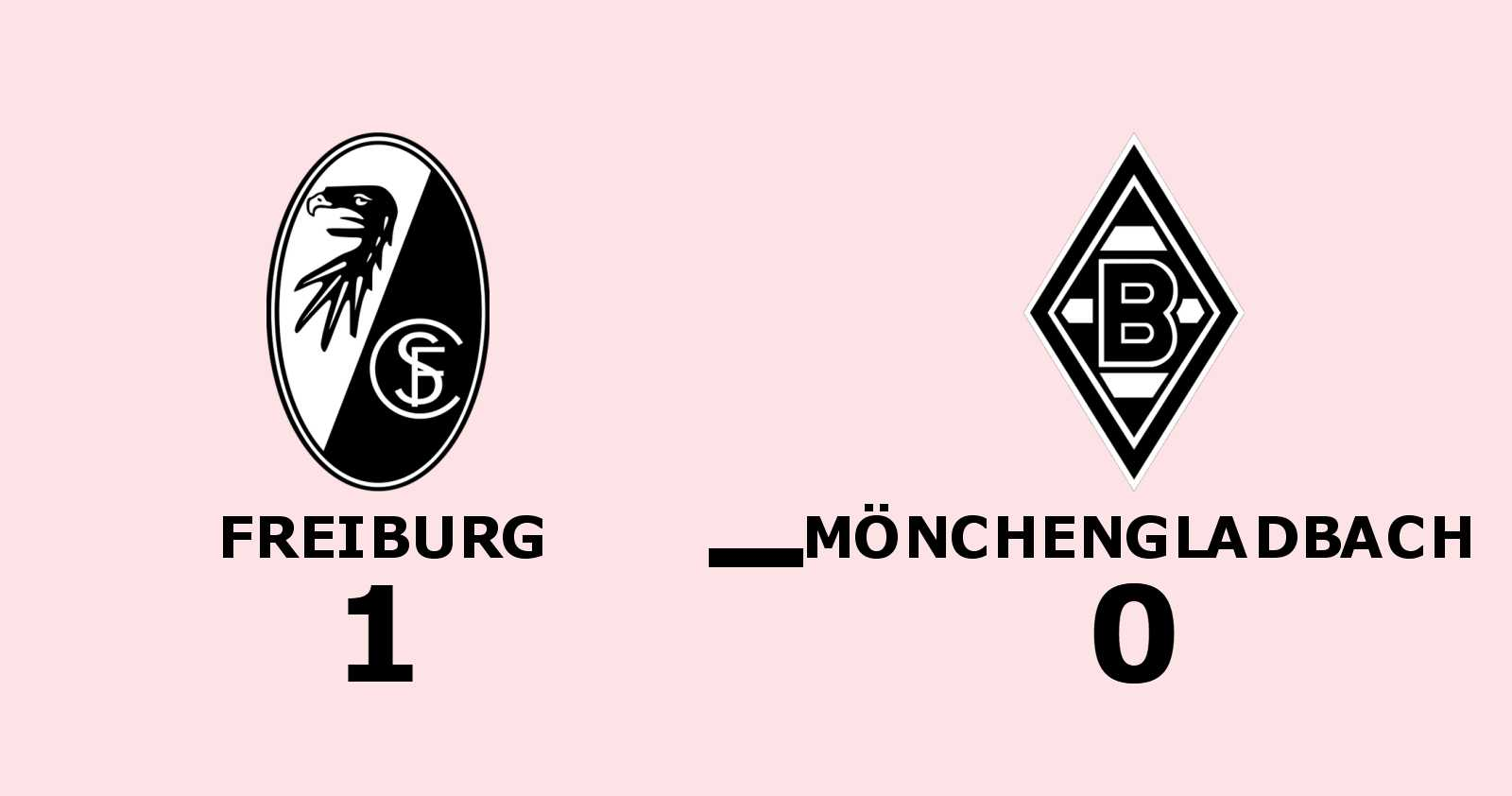 1-0-seger för Freiburg mot Mönchengladbach - Nils Petersen matchhjälte