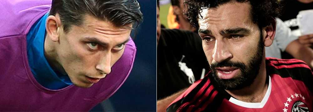 Ilya Kutepov och Mohamed Salah.