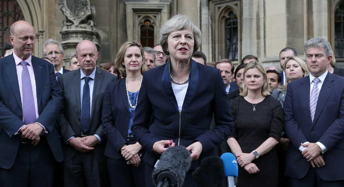 Theresa May höll sitt första tal idag.