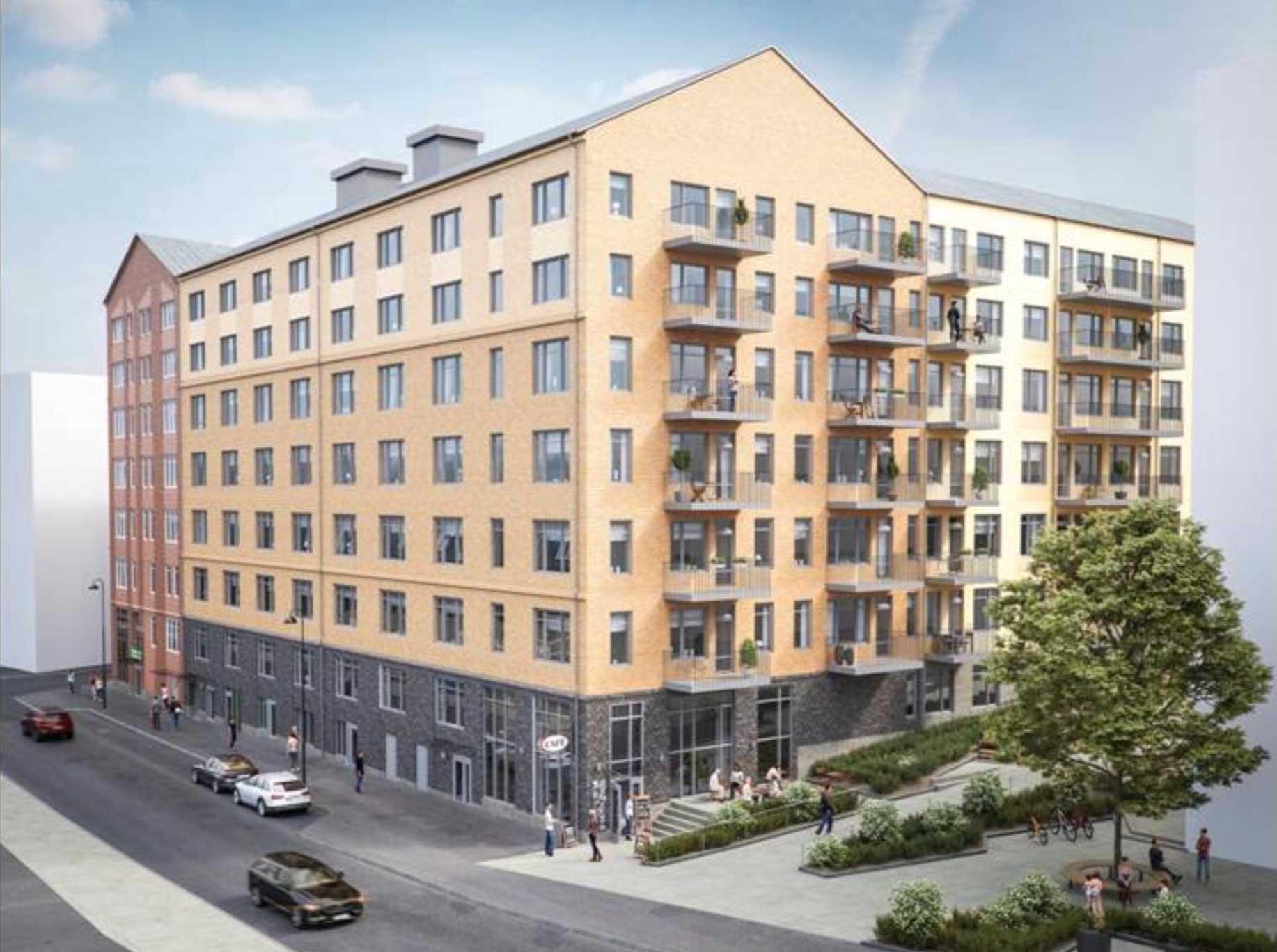 Här på Kvarngatan i Norrköping ska det byggas hyreslägenheter och äldreboende.