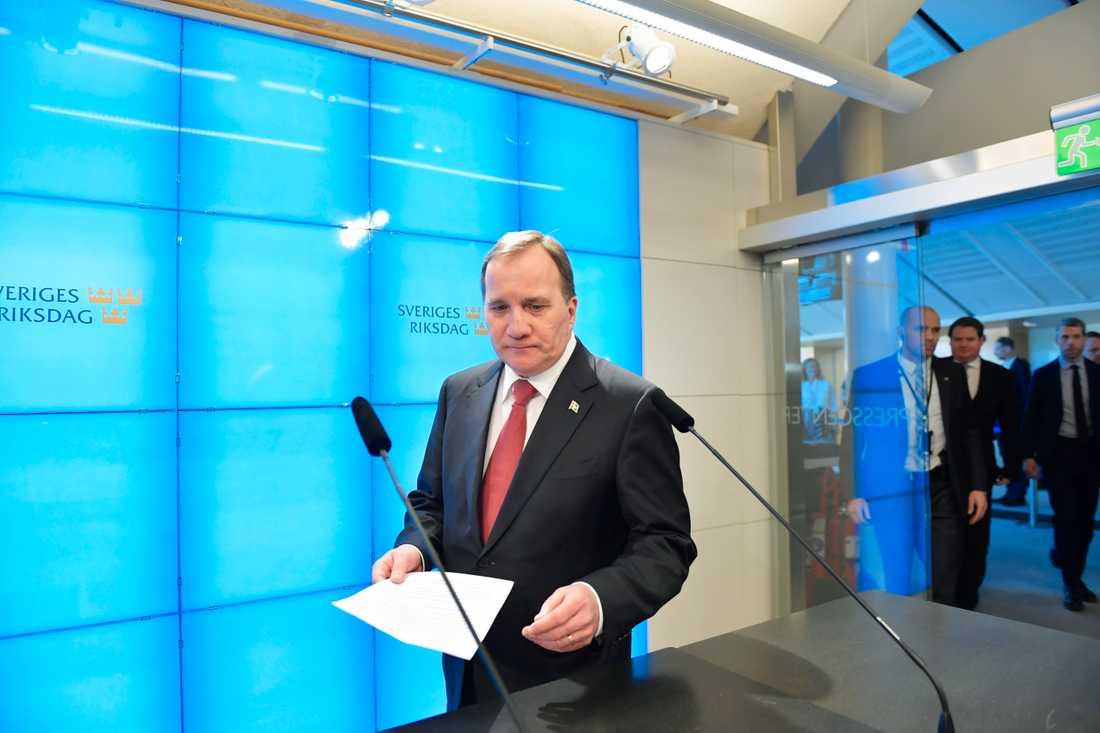 Statsminister Stefan Löfven (S) kan räkna med attacker från flera håll. Arkivbild.