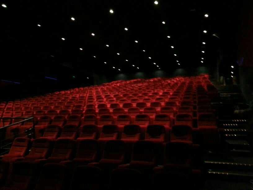 Arkivbild på salong 1 på biografen i Groningen.