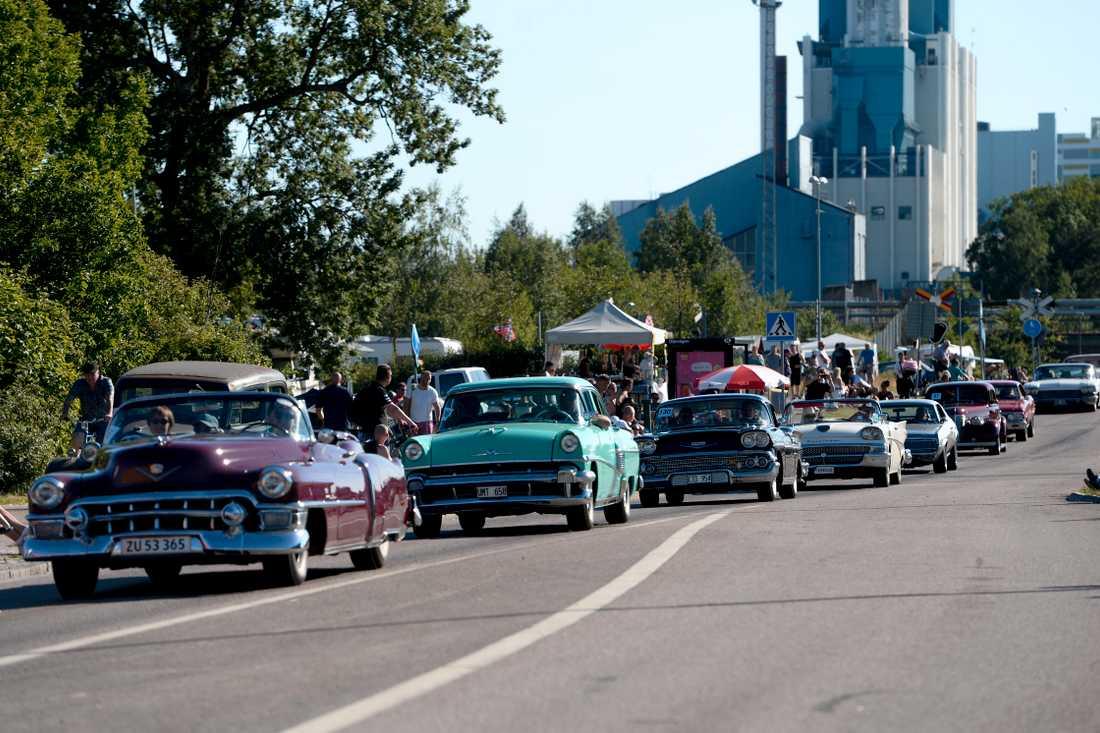 Crusing i Västerås. Arkivbild.  Bilarna på bilden har ingenting med händelsen i Ludvika att göra.