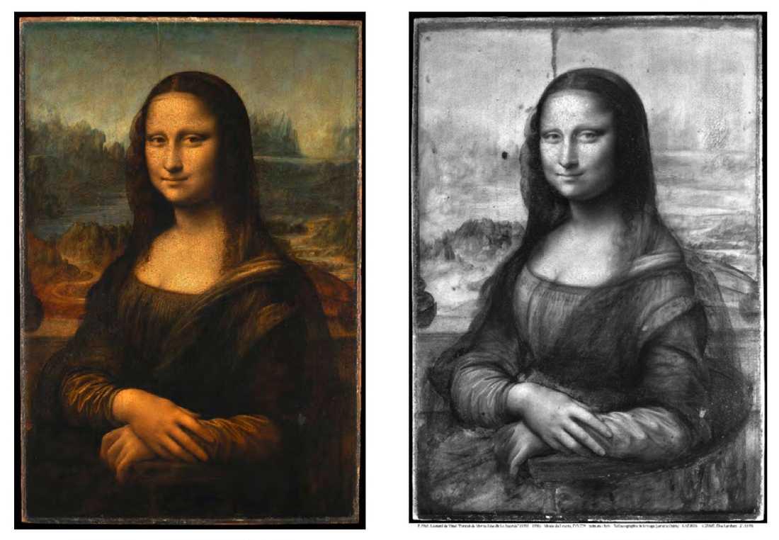 En så kallad reflektografi visar nya sidor av Leonardo da Vincis berömda målning.