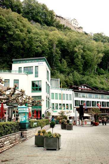 Den korta gågatan i Vaduz.