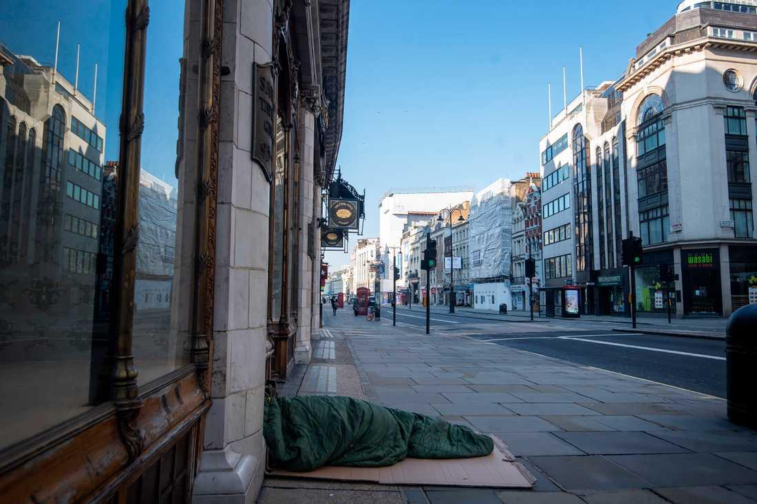 Hemlösa Londonbor har drabbats särskilt hårt under pandemin.