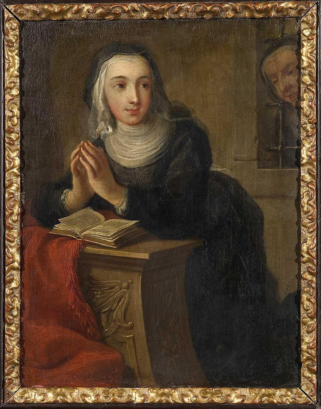 """Martin van Meytens d y, """"Knäböjande nunna"""" (cirka 1731)."""