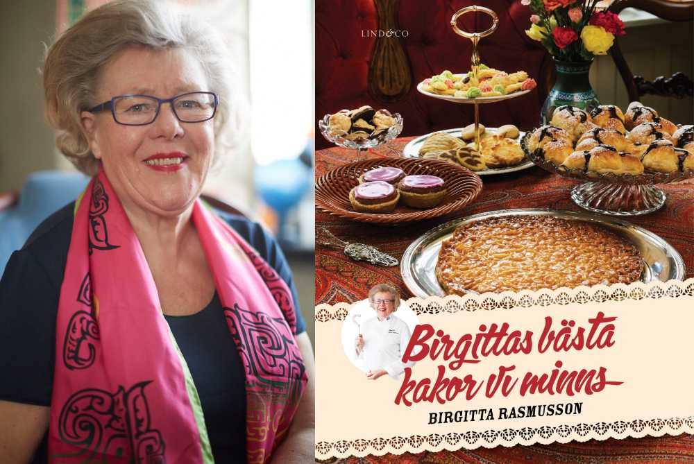 Birgitta Rasmusson och hennes nya kakbok Birgittas bästa – kakor vi minns (Lind & Co).