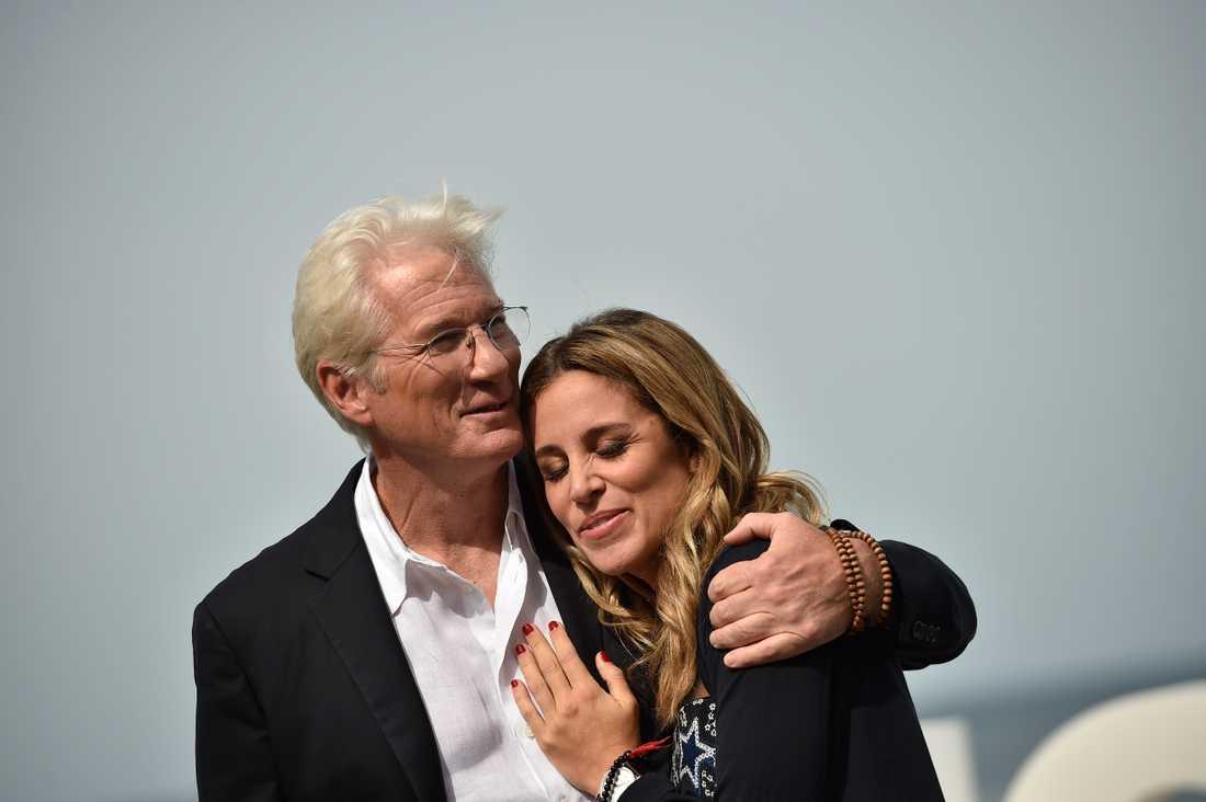 Richard Gere, 69, och hans 32 år yngre hustru Alejandra Silv.