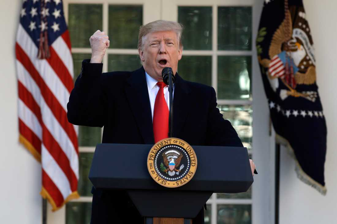 """""""Vi har nått ett avtal"""", sa Donald Trump och meddelade att nedstängningen av den federala statsapparaten upphör."""