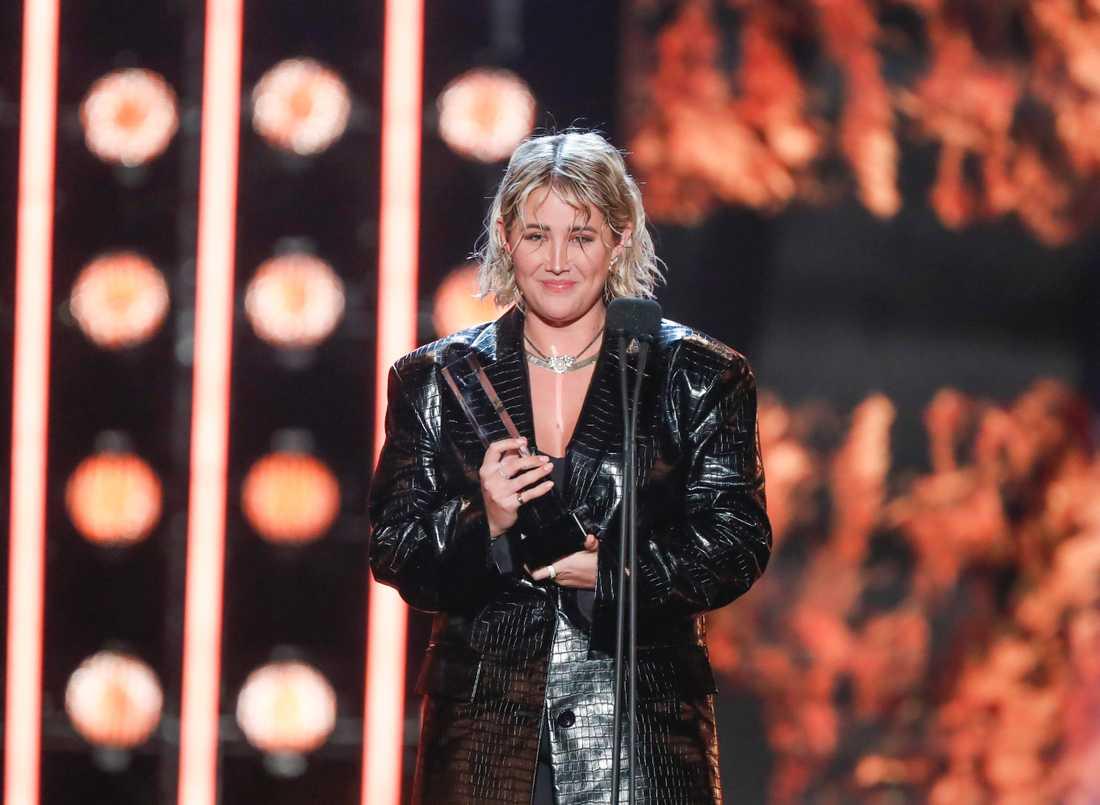 Molly Sandén kammade hem tre priser på Grammisgalan.