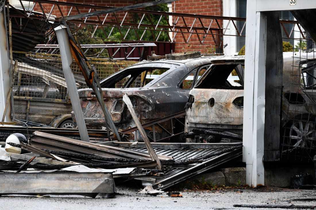 2017 gjordes närmare 370 anmälningar om bilbränder i Malmö.