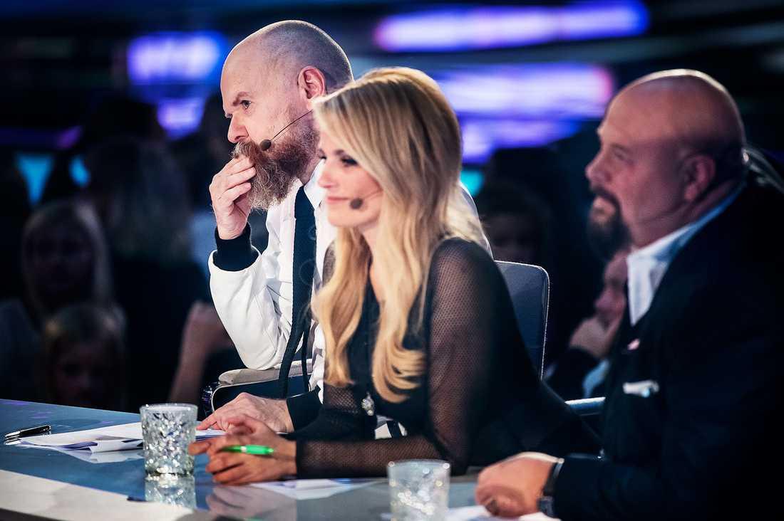 "Laila Bagge i gamla ""Idol""-juryn med Alexander Bard och Anders Bagge."