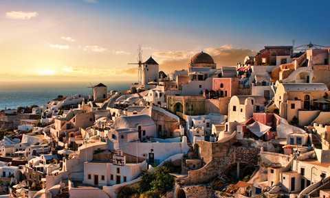 Santorini i Grekland.