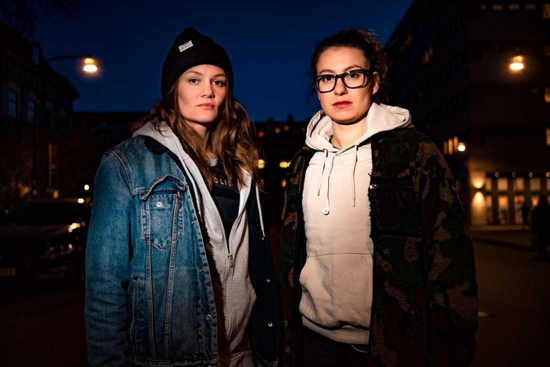 Poliserna Elin Sjögren och Linnea Horgby ledde insatsen