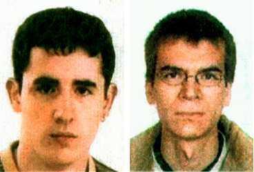 FÖRBEREDDE MASSAKER ETA-terroristerna Gorka Vidal Alvaro och Irkus Badillo Borde greps med 536 kilo sprängmedel.
