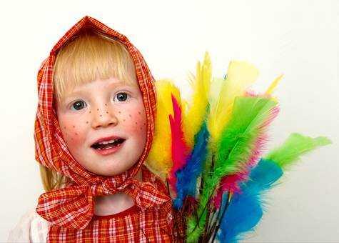 Aktivitet för barnen – klä ut sig till påskkäringar
