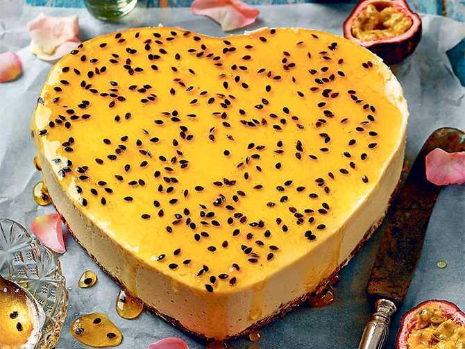 Lätt och lyxigt – passionsfruktscheesecake.