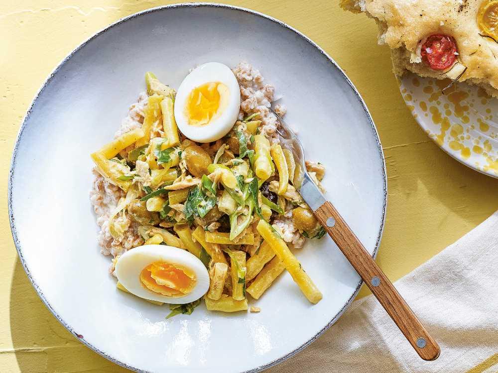 Matvetesallad med ägg och tonfisk