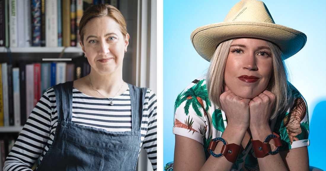 Matkreatören Malin Landqvist och miljöforskaren Victoria Voss Bignet.