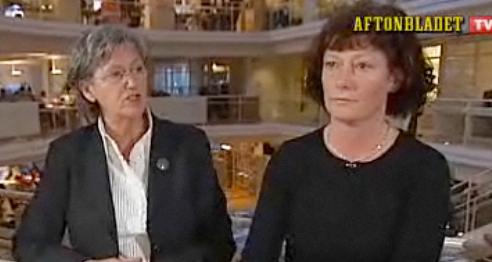 Cristina Husmark Pehrsson mötte sjukskrivna Karin Blomqvist i en webbtv-debatt.