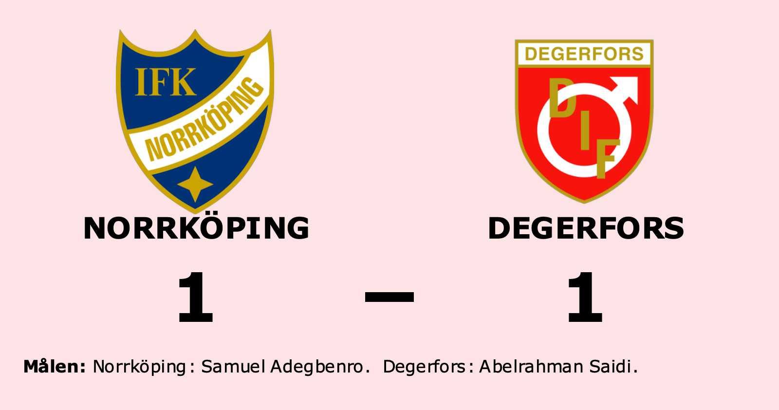 Norrköping tappade ledningen mot Degerfors