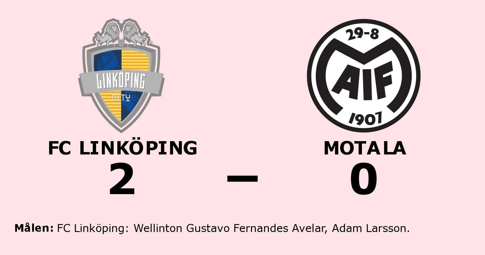 Wellinton Gustavo Fernandes Avelar och Adam Larsson matchvinnare när FC Linköping vann