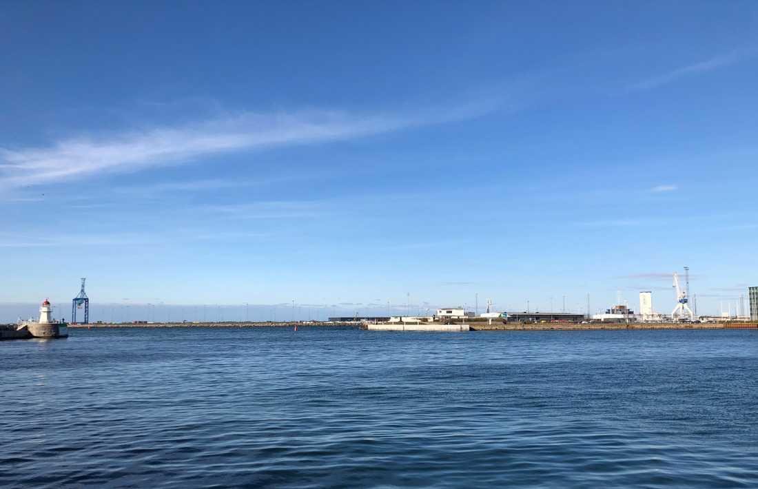 Lugnet före stormen. I april väntas hamnen i Malmö få stora utmaningar på grund av coronasmittan.