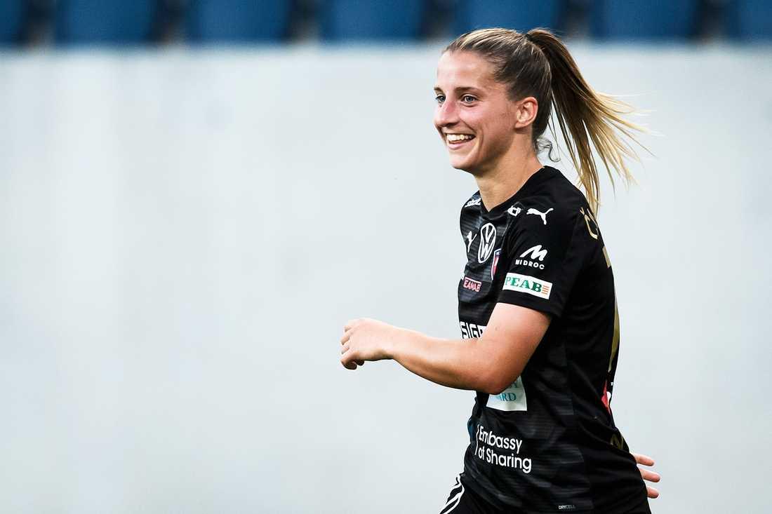 Rosengårds Jelena Cankovic stod för tre mål i överkörningen mot Uppsala.