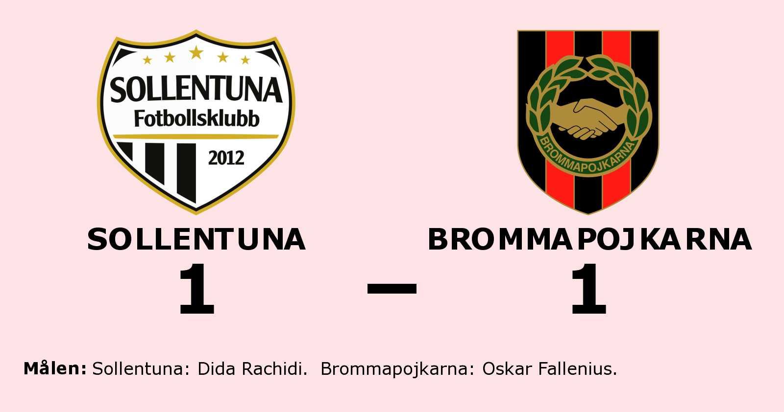 Oavgjort för Sollentuna hemma mot Brommapojkarna