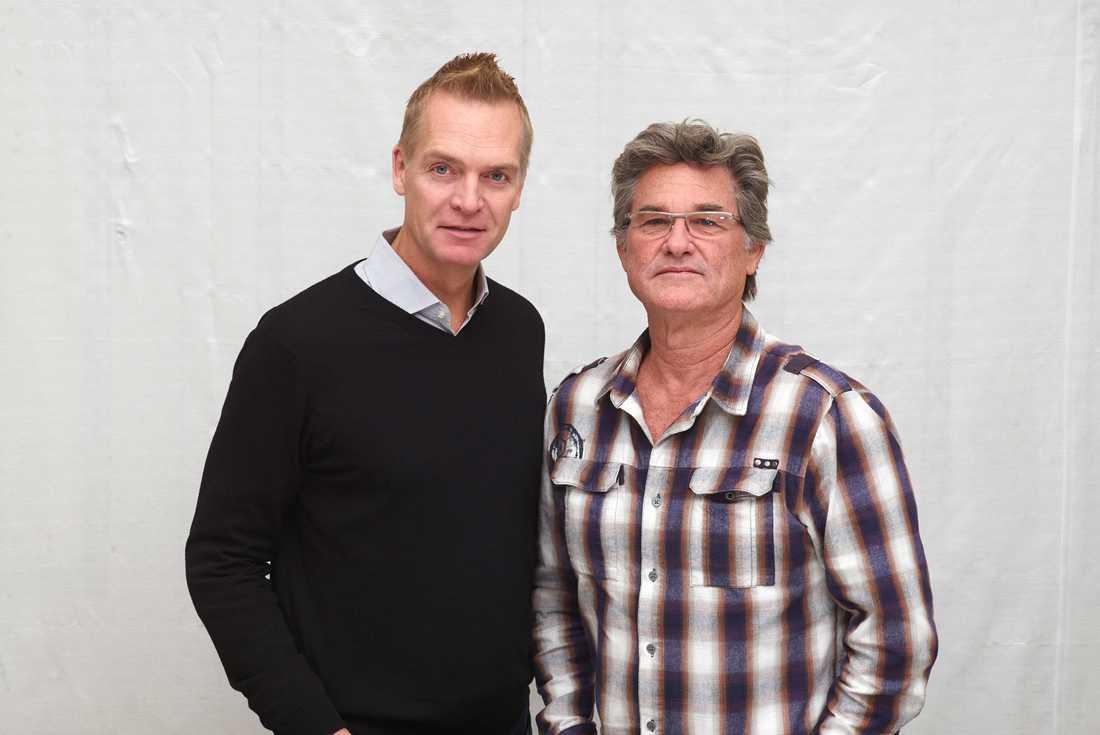 Russell med Nöjesbladets Magnus Sundholm.