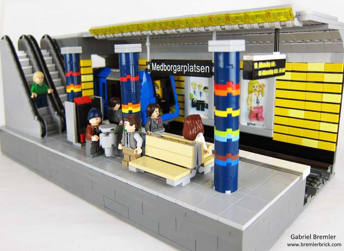 Stockholm tunnelbana – modellen är byggd på uppdrag av SL, Stockholms lokaltrafik.