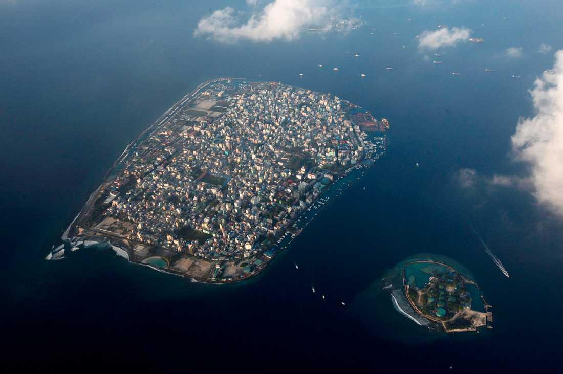 Maldivernas huvudstad Male, fotograferad ovanifrån 2009.