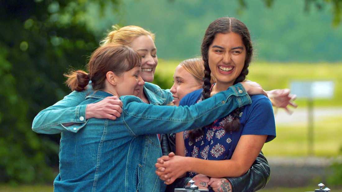 """Melissa Walls, Jennifer Buhrow, Kaytie Hubis och Christina Sittser tävlade i sista avsnittet av """"Allt för Sverige"""" 2019."""