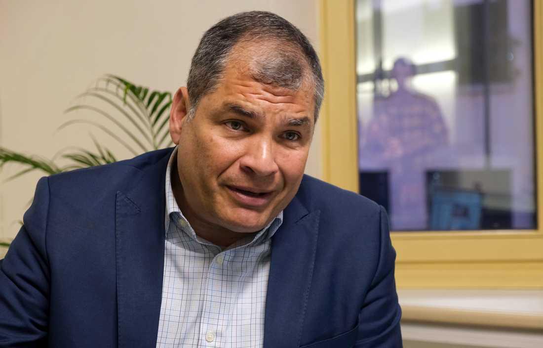 Ecuadors tidigare president Rafael Correa dömdes till 8 års fängelse i sin frånvaro. Domen rör korruption. Arkivbild.