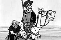 Sancho Panza och Don Quijote.