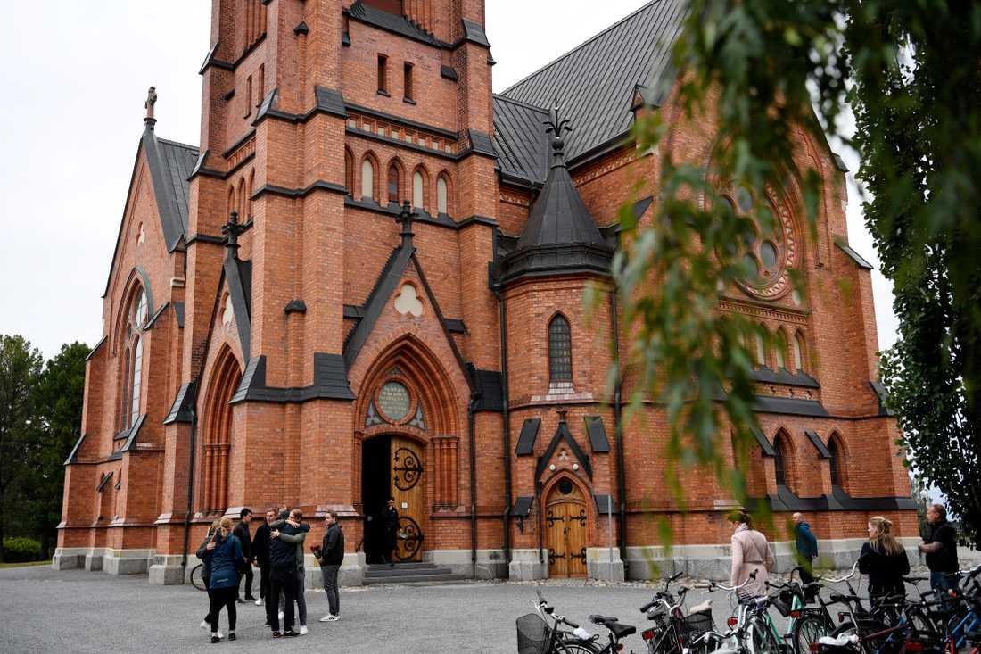 Umeå stads kyrka, där minnesstunden hölls.