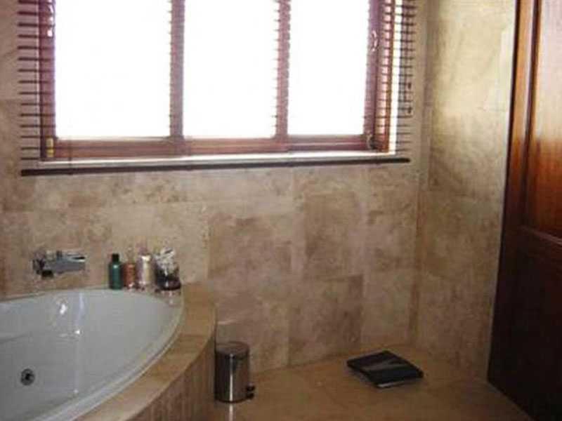 Åklagaren tror att Pistorius stod nära badkaret i hörnet och siktade mot dörren till höger in till toaletten där flickvännen Steenkamp gömde sig.