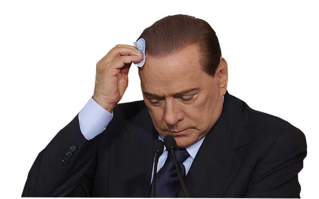 Silvio Berlusconi på fall.