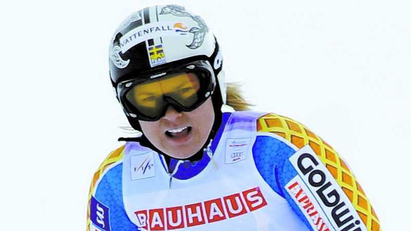 Anja Pärsson hade ingen lyckad VM-premiär.
