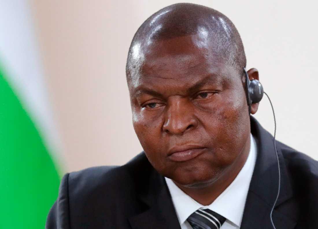 Centralafrikanska republikens president Faustin-Archange Touadéra. Arkivibild.