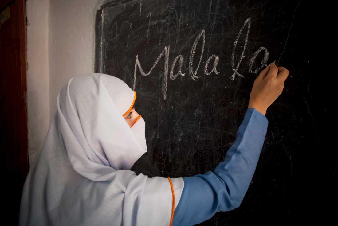 Malala har blivit en förebild bland flickor i skolor över hela världen.