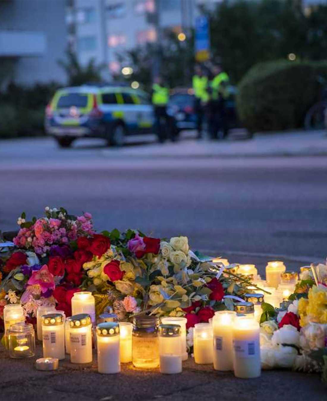 Polisnärvaron har varit omfattande i Ribersborg dagarna efter mordet.