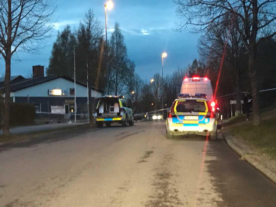 En man blev skjuten nära Östra skolan i Katrineholm i maj 2017.