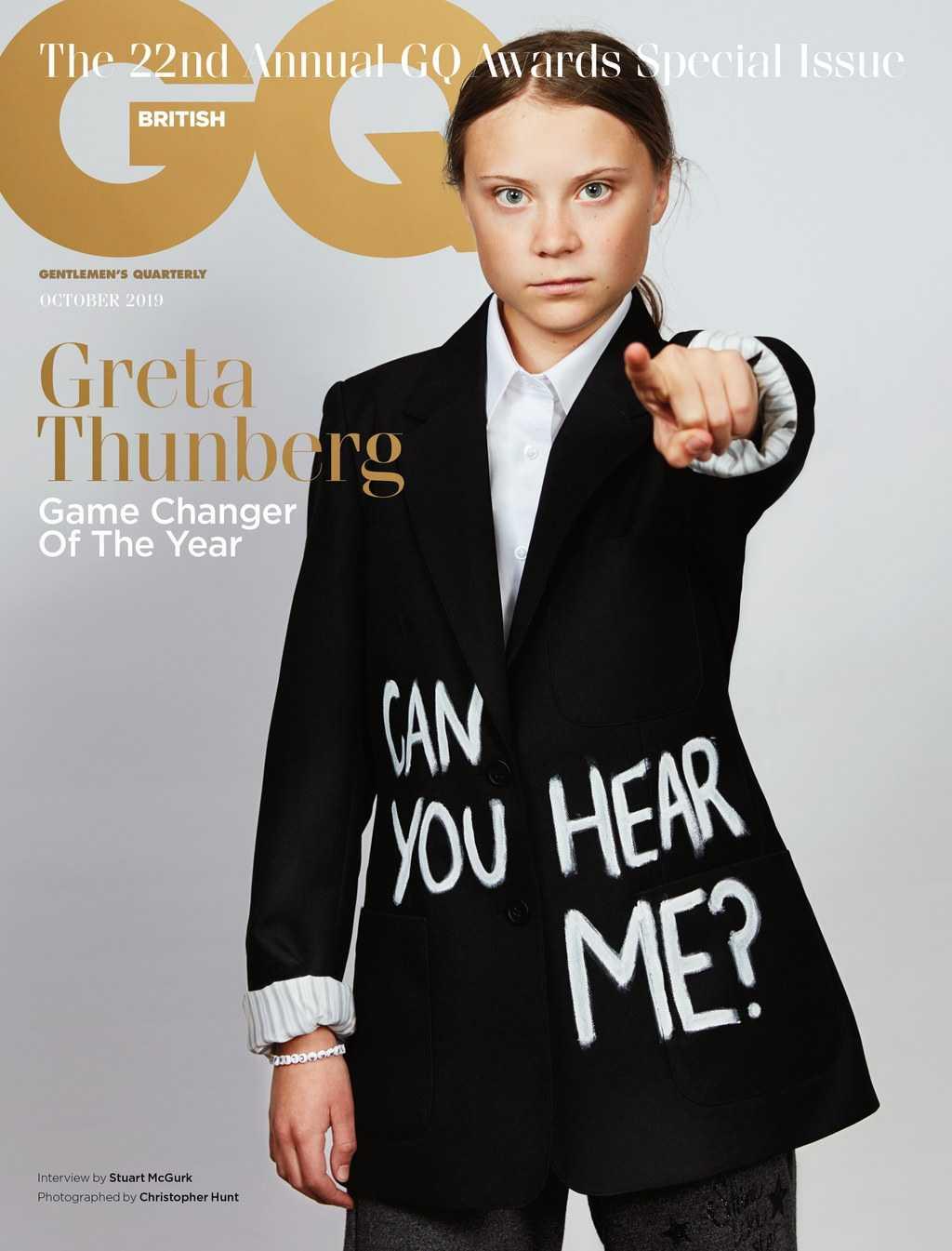 Det är det brittiska specialnumret för oktober månad som tillägnas Greta Thunberg.