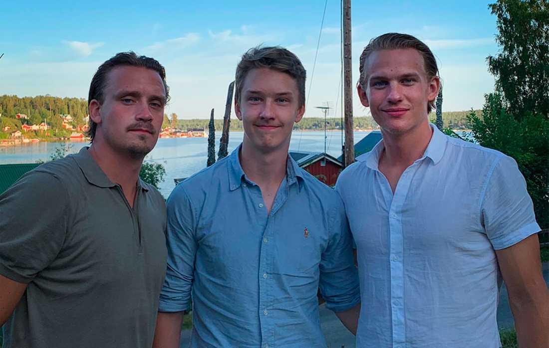De tre bröderna Marcus, Linus och Oskar Lindblom